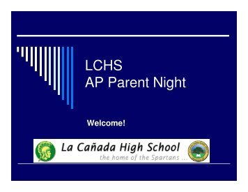 LCHS AP Parent Night