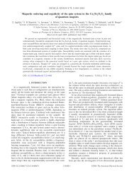 Magnetic ordering and ergodicity of the spin system in the ...