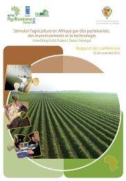 Stimuler l'agriculture en Afrique par des partenariats, des ... - EMRC