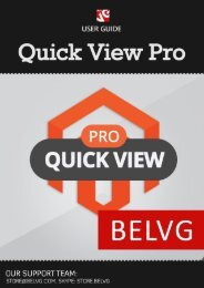 Quick View Pro User Guide - BelVG Magento Extensions Store