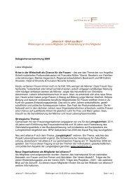 """""""alliance F - Brief aus Bern"""" Mitteilungen an unsere Mitglieder zur ..."""