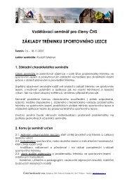 Propozice ke stažení ve formátu pdf - Český horolezecký svaz