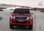 HILUX 4x4 SPECIFICATIONS - Toyota