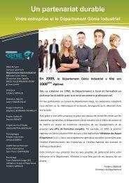 Un partenariat durable - Département Génie Industriel - INSA de Lyon