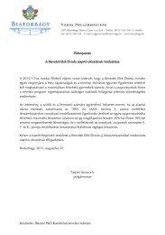 A Benedek Elek Óvoda alapító okiratának módosítása - Biatorbágy