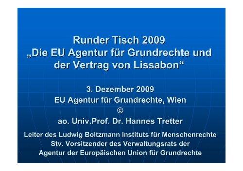 Powerpoint Round Table - Ludwig Boltzmann Institut für ...