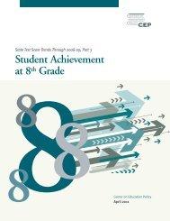 Student Achievement at 8th Grade