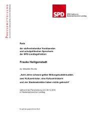 Rede zur Aktuellen Stunde - Frauke Heiligenstadt