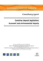Consultancy report: Container deposit legislation - Economic ... - EPA