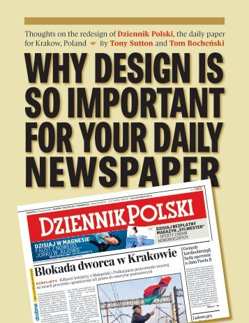 Dziennik Polski - News Design Associates