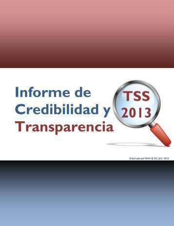 Informe de Credibilidad y Transparencia - TSS