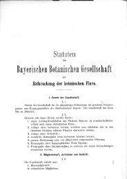 Statuten der Bayerischen Botanischen Gesellschaft zur Erforschung ...