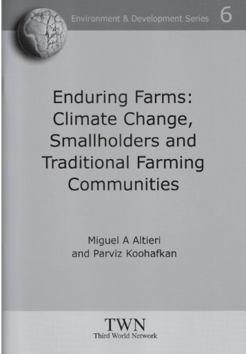 Climate Change, Smallholders and Traditional Farming Communities