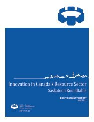 Innovation in Canada's Resource Sector - Public Policy Forum