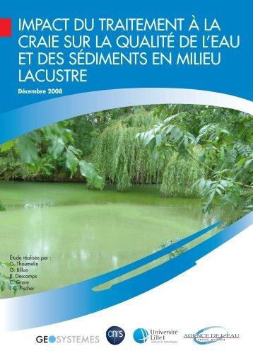 Impact du traitement à la craie - Agence de l'eau Artois Picardie