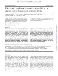 Effects of non-invasive cortical stimulation on skilled motor ... - Brain