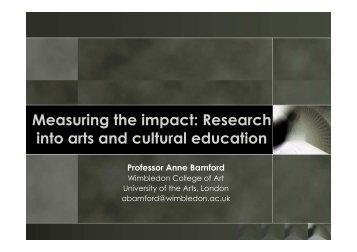 Symposium - Intervention Anne Bamford
