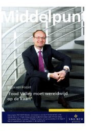 Interview Roger van Hoesel - Food Valley