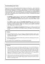 Gewaltenteilung in der Union - Examen Europaeum