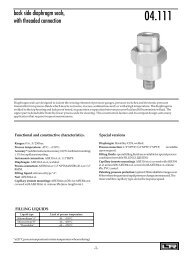 back side diaphragm seals, with threaded connection - DRUCK ...
