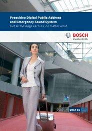 Praesideo - Bosch Security Systems