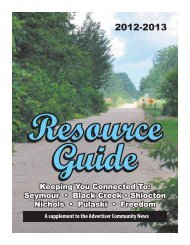 2012-2013 Resource Guide - Advertiser Community News