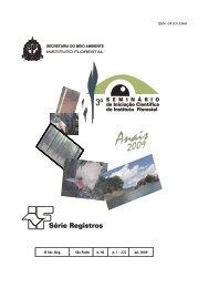 3 SEMINÁRIO DE INICIAÇÃO CIENTÍFICA DO - Instituto Florestal