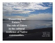 "—Preserving our Future."" The role of Elders in the cultural resilience ..."