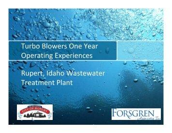 Turbo Blower Experiences - pncwa