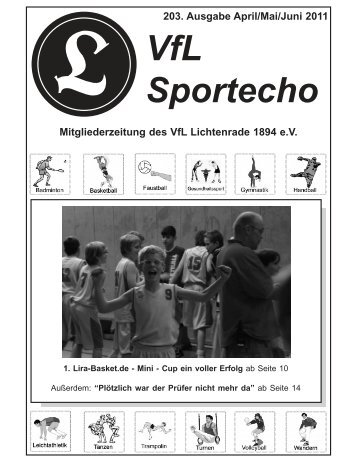 VfL Sportecho 203. Ausgabe April/Mai/Juni 2011 ... - VfL Lichtenrade