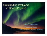 Outstanding Problems in Space Physics - GPSM
