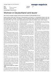 Wohnen in Deutschland wird teurer - Michael Schick Immobilien Berlin