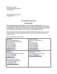 Share Buy Back - ARC Capital Holdings Ltd