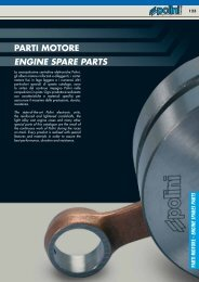 PARTI MOTORE ENGINE SPARE PARTS - Central Ricambi