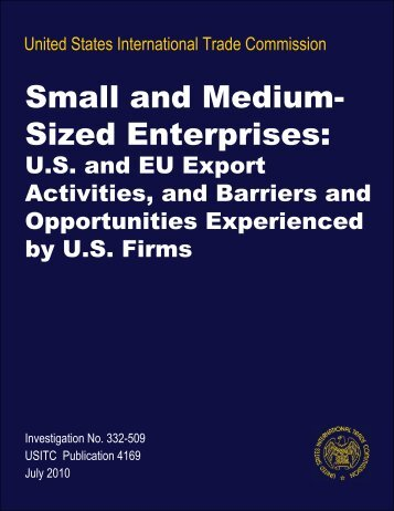 Small and Medium-Sized Enterprises: U.S. and EU Export ... - USITC
