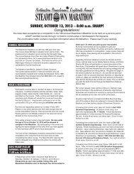 SUNDAY, OCTOBER 13, 2013 – 8:00 a.m. SHARP! - Steamtown ...