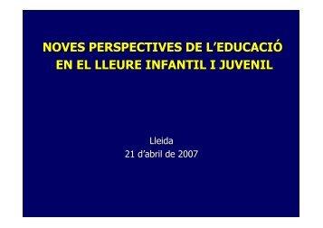 noves perspectives de l'educació en el lleure infantil i juvenil