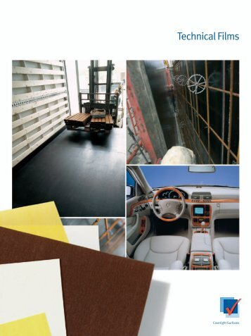 Technical films product brochure - Coveright Surfaces