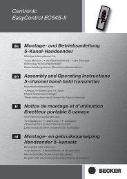 Becker Centronic EasyControl EC545 II Anleitung - auf enobi.de