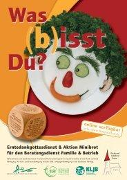 Erntedankgottesdienst & Aktion Minibrot für den ... - Familie & Betrieb