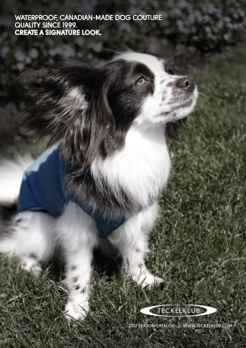 waterproof, canadian-made dog couture. quality since 1999