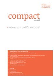 compact Spezial – Arbeitsrecht und Datenschutz, 01/2013 - Esche ...