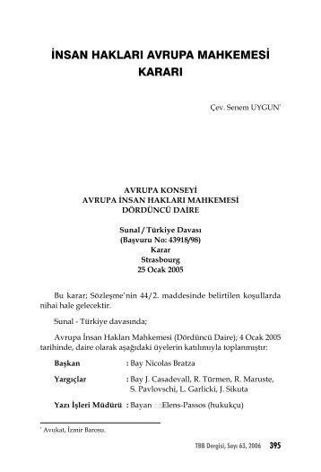 insan hakları avrupa mahkemesi kararı