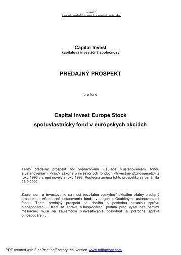CI Select Europe Stock