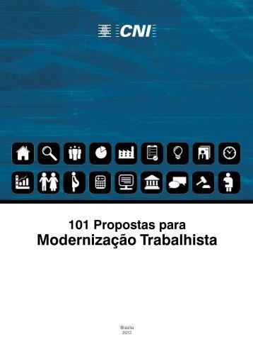 101 Propostas para a Modernização Trabalhista - CNI
