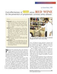 Cost-effectiveness of BEER versus RED WINE for the prevention of ...