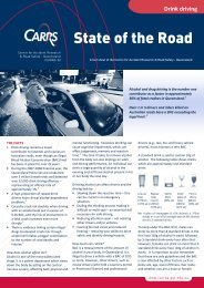 Drink driving fact sheet - Centre for Accident Research and Road ...