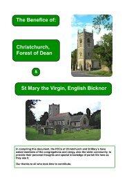 Benefice Profile final - Gloucester Diocese