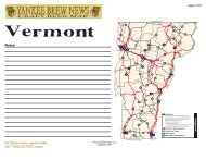 Vermont Good Beer Map - Brewing News