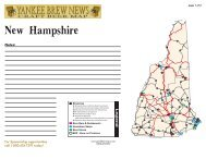 New Hampshire Good Beer Map - Brewing News